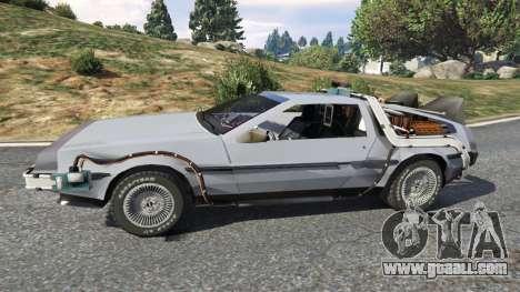 GTA 5 DeLorean DMC-12 Back To The Future v0.2 left side view