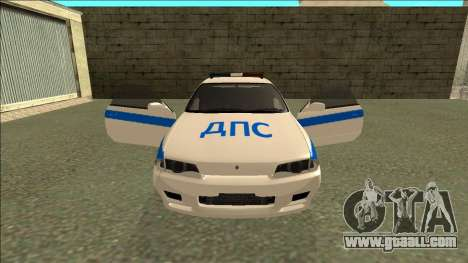 Nissan Skyline R32 Russian Police for GTA San Andreas wheels