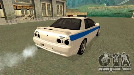 Nissan Skyline R32 Russian Police for GTA San Andreas side view