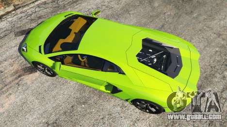 GTA 5 Lamborghini Aventador LP700-4 v1.0 back view