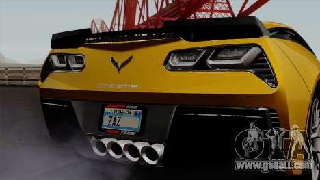 Chevrolet Corvette Z06 1.0.1 for GTA San Andreas inner view