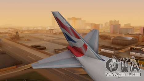 Boeing 747-200 British Airways for GTA San Andreas back left view