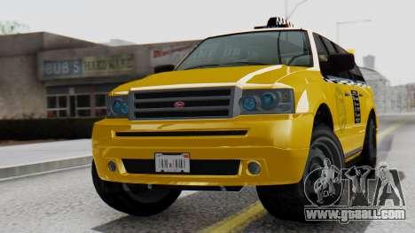 Vapid Landstalker Taxi SR 4 Style Flatshadow for GTA San Andreas