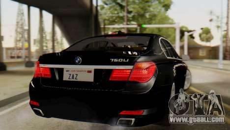 BMW 750Li 2012 for GTA San Andreas left view