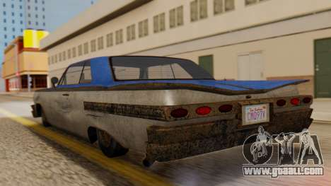GTA 5 Declasse Voodoo Worn IVF for GTA San Andreas left view
