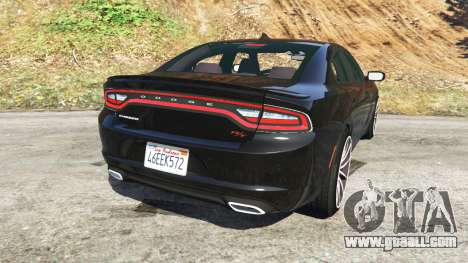 GTA 5 Dodge Charger RT 2015 v0.5 rear left side view