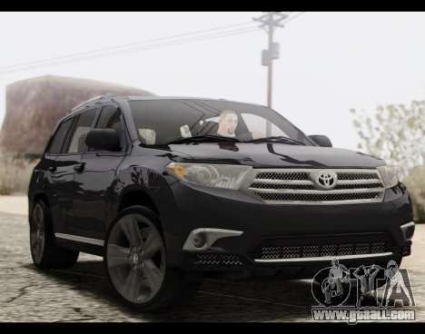 Toyota Highlander 2011 for GTA San Andreas
