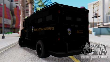 GTA 5 Enforcer Raccoon City Police Type 2 for GTA San Andreas left view