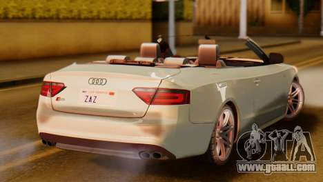Audi S5 2010 Cabriolet for GTA San Andreas left view