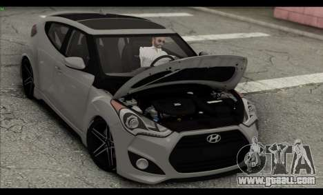 Hyundai Veloster 2012 for GTA San Andreas bottom view