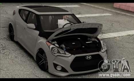 Hyundai Veloster 2012 for GTA San Andreas bottom view