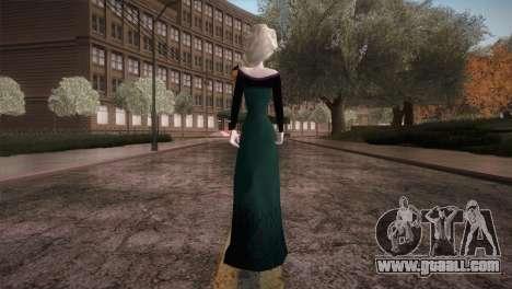Elsa Frozen HQ Dress for GTA San Andreas third screenshot