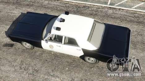 GTA 5 Dodge Polara 1971 Police back view