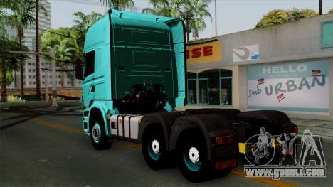 Scania R Topline for GTA San Andreas left view
