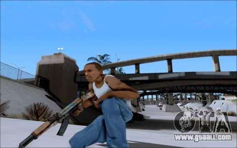 AK-47 Soviet for GTA San Andreas forth screenshot