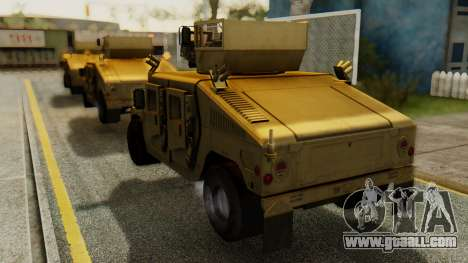 PR BF2 US Army UpArmored Humvee Armed with MK19 for GTA San Andreas left view