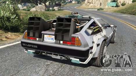 GTA 5 DeLorean DMC-12 Back To The Future v0.2 rear left side view