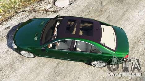 GTA 5 Mercedes-Benz S500 W221 v0.3.1 [Alpha] back view