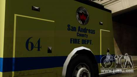 SAFD SAX Airport Engine for GTA San Andreas right view