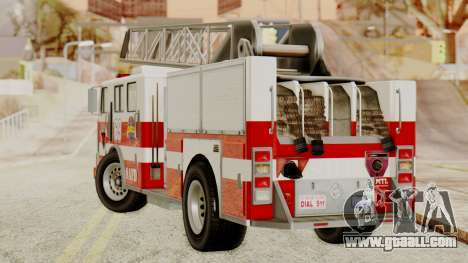 SAFD Fire Lader Truck for GTA San Andreas left view