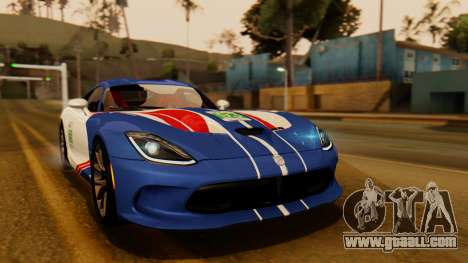 Dodge Viper SRT GTS 2013 IVF (HQ PJ) LQ Dirt for GTA San Andreas side view