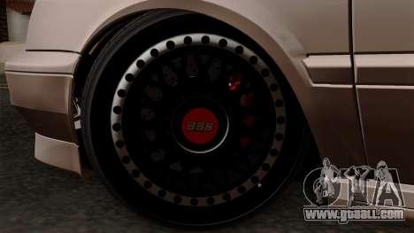 Volkswagen Golf 3 Shine for GTA San Andreas back left view