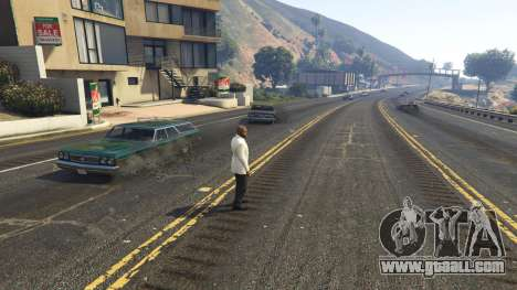 GTA 5 The explosion left the tires of nearby cars 2.0