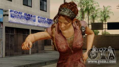 Tess from The Last of Us for GTA San Andreas