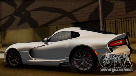 Dodge Viper SRT GTS 2013 IVF (HQ PJ) LQ Dirt for GTA San Andreas left view