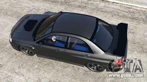 GTA 5 Subaru Impreza WRX STI 2005 back view