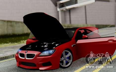 BMW M6 2013 v1.0 for GTA San Andreas interior