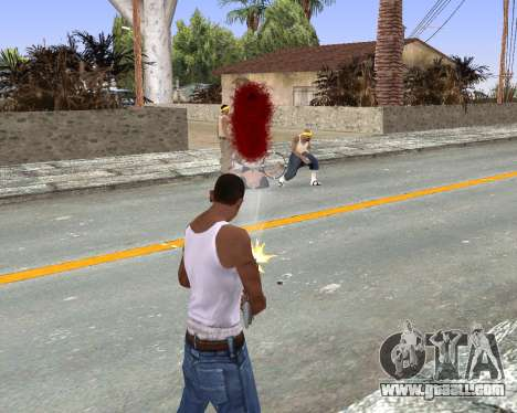 Blood Effects for GTA San Andreas third screenshot