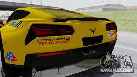Chevrolet Corvette C7R GTE 2014 PJ1 for GTA San Andreas back view