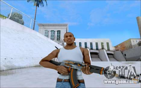 AK-47 Carbone Edition for GTA San Andreas second screenshot