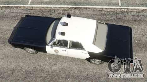 GTA 5 Dodge Polara 1971 Police v3.0 back view