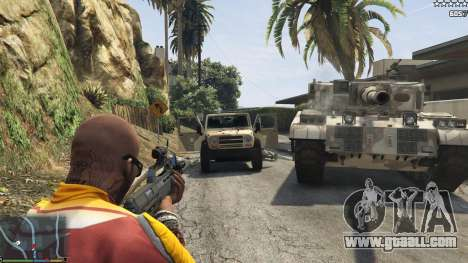 GTA 5 The army instead of the police on 5-stars v1.3.4