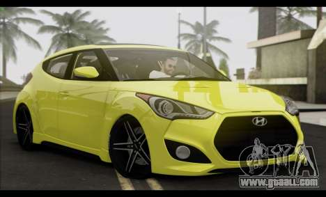 Hyundai Veloster 2012 for GTA San Andreas back left view