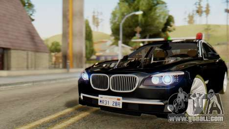 BMW 750Li 2012 for GTA San Andreas