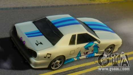 Vinyl Scratch Elegy for GTA San Andreas back left view