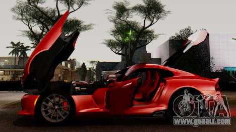 Dodge Viper SRT GTS 2013 IVF (MQ PJ) LQ Dirt for GTA San Andreas upper view