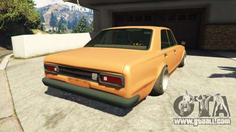GTA 5 Nissan Skyline 2000 GT-R 1970 v0.1 [Beta] rear left side view