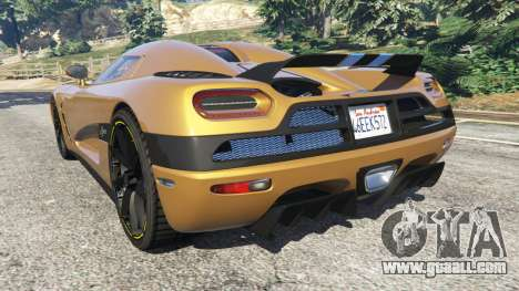 GTA 5 Koenigsegg Agera v0.8 [Early Beta] rear left side view