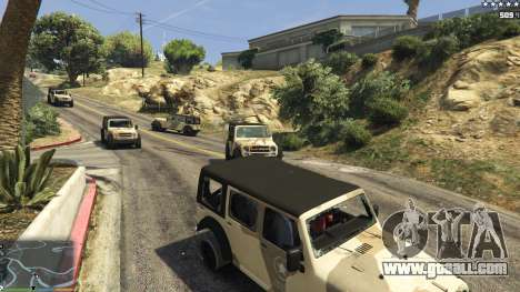 The army instead of the police on 5-stars v1.3.4 for GTA 5