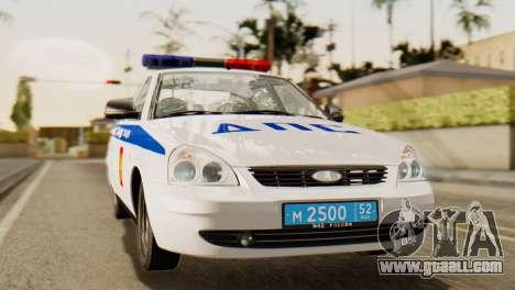 Lada 2170 Priora traffic police of the Nizhniy N for GTA San Andreas