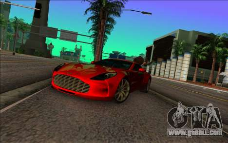 Aston Martin One-77 for GTA Vice City right view
