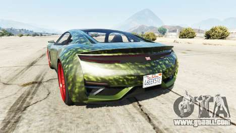 GTA 5 Dinka Jester (Racecar) Hulk rear left side view