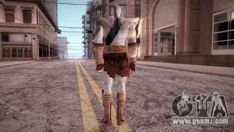 God Of War 3 Kratos Blue for GTA San Andreas third screenshot