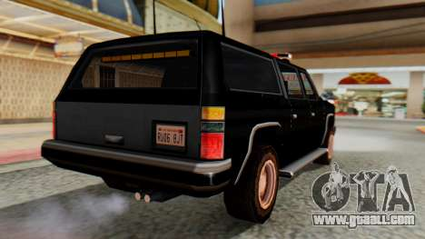 FBI Rancher with Lightbars for GTA San Andreas left view