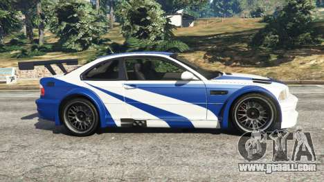 GTA 5 BMW M3 GTR E46 Most Wanted left side view