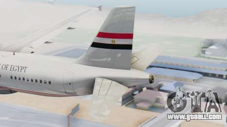 Airbus A320-200 Egyptian Air Force One for GTA San Andreas back left view